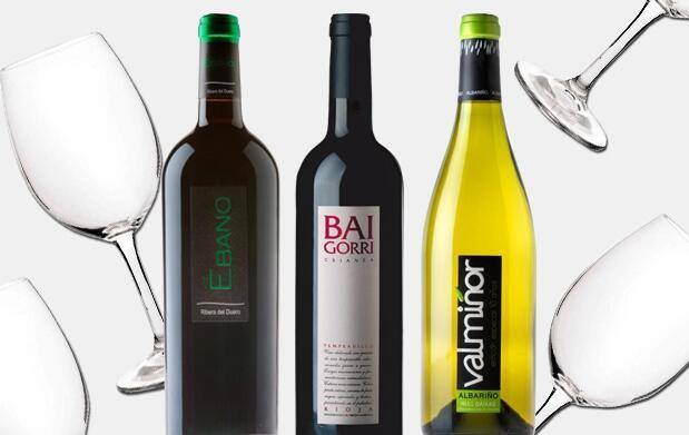 Estuche de 6 botellas de vino + 6 fabulosas copas de cristal de Bohemia