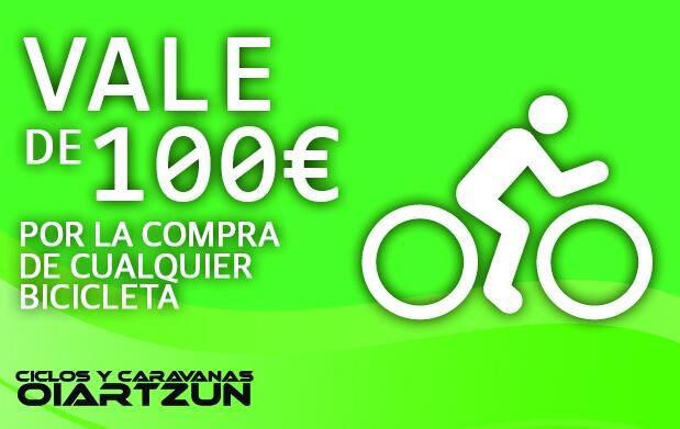Vale por 100 € en la compra de una bicicleta