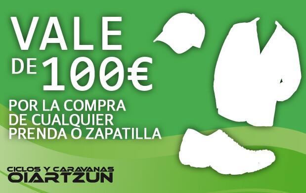Vale por 100 € en la compra de ropa y calzado de calle-montaña