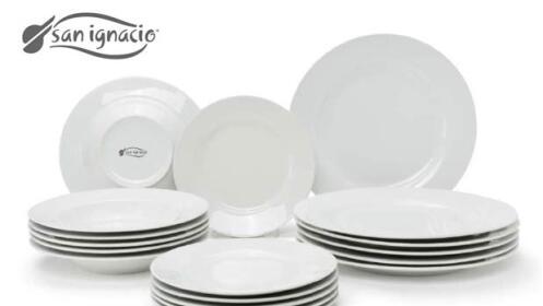 vajilla de porcelana san ignacio por 35 oferta con