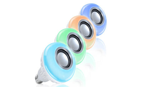 Bombilla altavoz bluetooth RGB