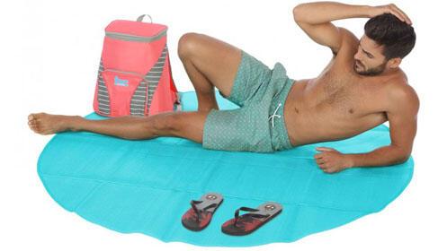 Esterilla de playa 160 CM trenzado azul