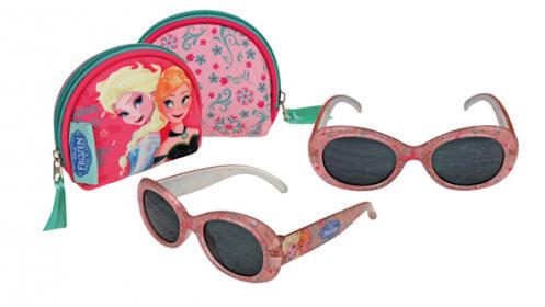 Set pequeño de Frozen o Spiderman: monedero + gafas de sol