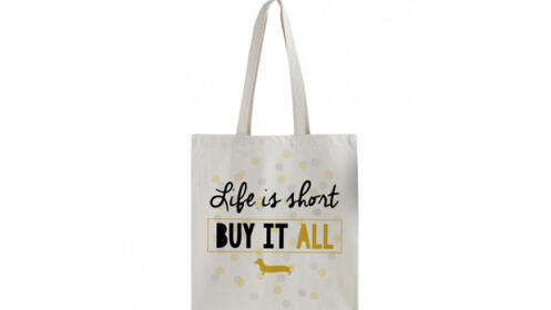 Tote Bag Life is Short