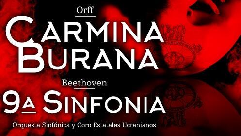 Entradas Carmina Burana y 9ª Sinfonía de Beethoven