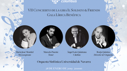 VII Concierto benéfico de la gira 'Il soldato & friends' en San Sebastián el 28 de enero