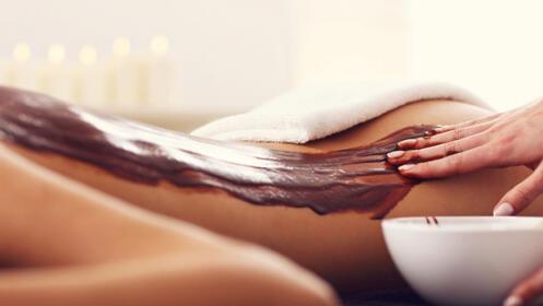 Exfoliación corporal con chocolaterapia + tratamiento facial con aminoácidos