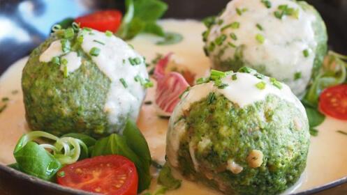 Menú vegetariano en el Restaurante Gran Vía