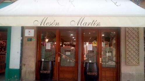 Menú producto local de calidad en Mesón Martín