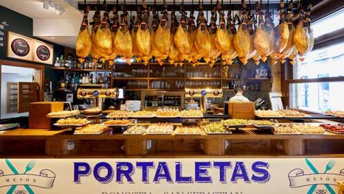 Un menú en el Mesón Portaletas