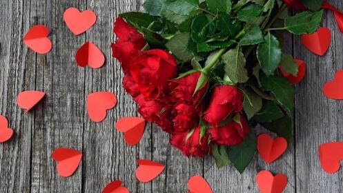 Rosas rojas para San Valentín
