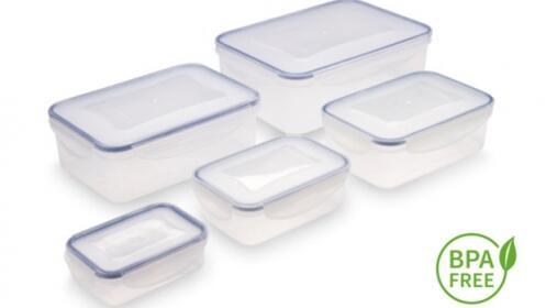 Set de 5 envases herméticos
